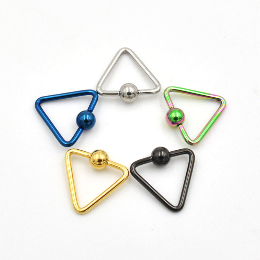 Ball Triangle Nipple Ring