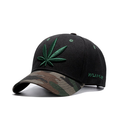 Marijuana Leaf Gold Dad Hat