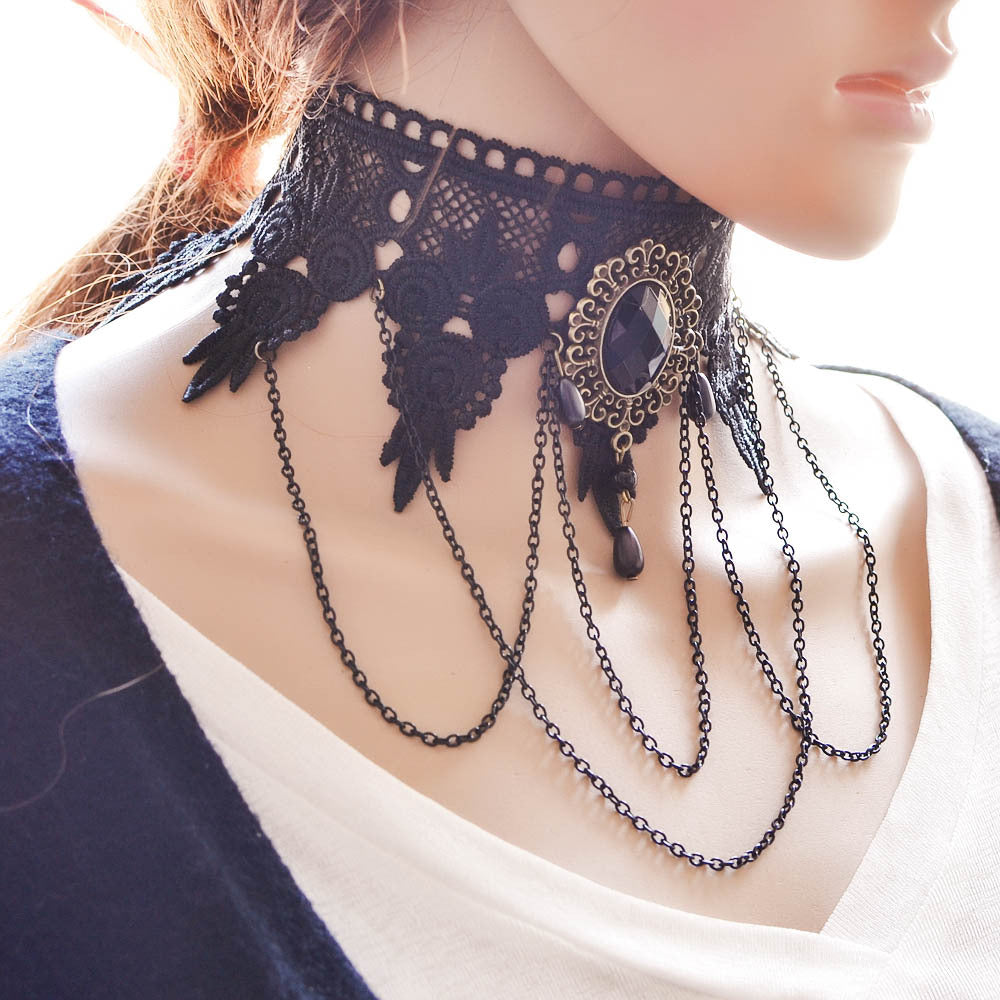 Steampunk Collar Lace Dame