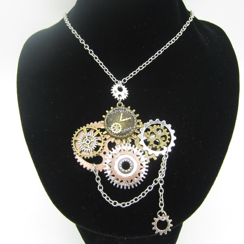 Steampunk Multiple Gears Necklace