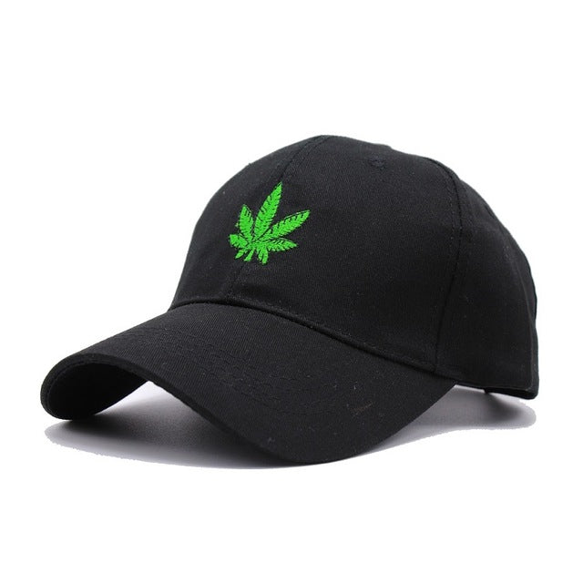 Marijuana Leaf Green Dad Hat