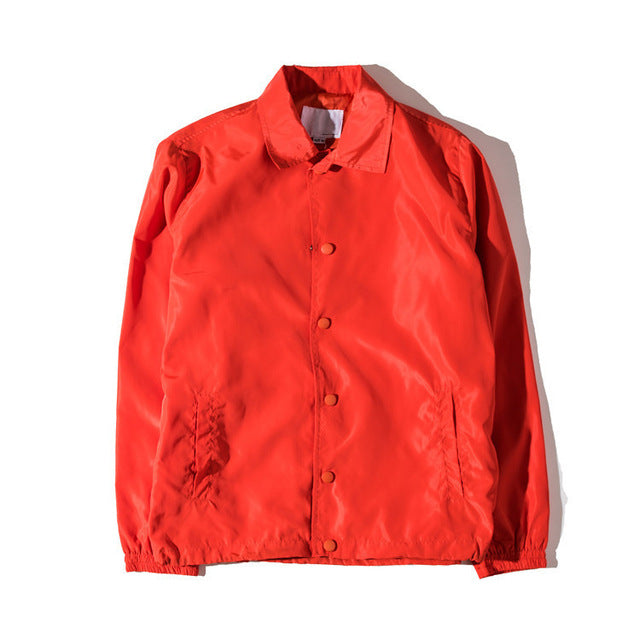 Coaches Jacket Red Retro Tailored Fit