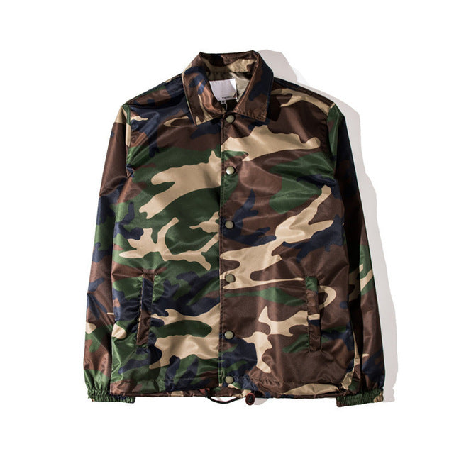 Coaches Jacket Camo Retro Tailored Fit