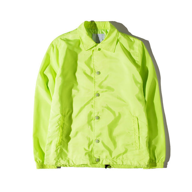 Coaches Jacket Green Retro Tailored Fit
