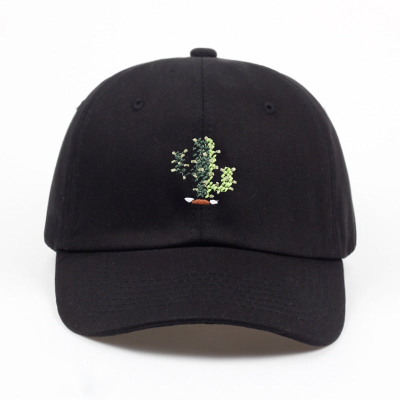 Black Cactus Dad Hat
