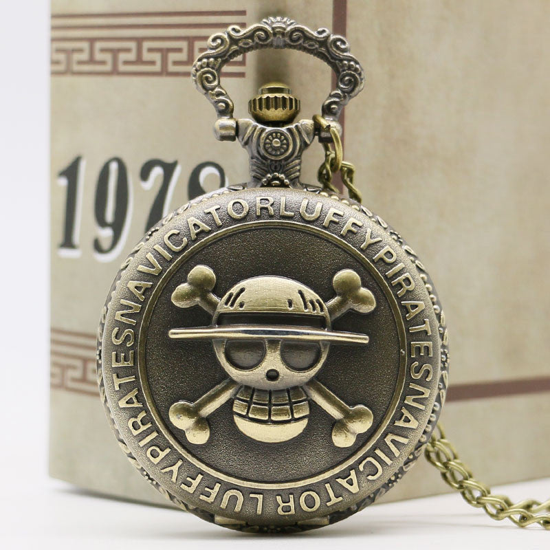 Steampunk Luffy Navigator Pocket Watch