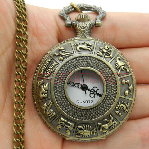 Steampunk Pocket Watch Zodiac