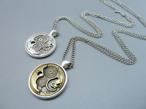 Steampunk Necklace Clockwork Gears