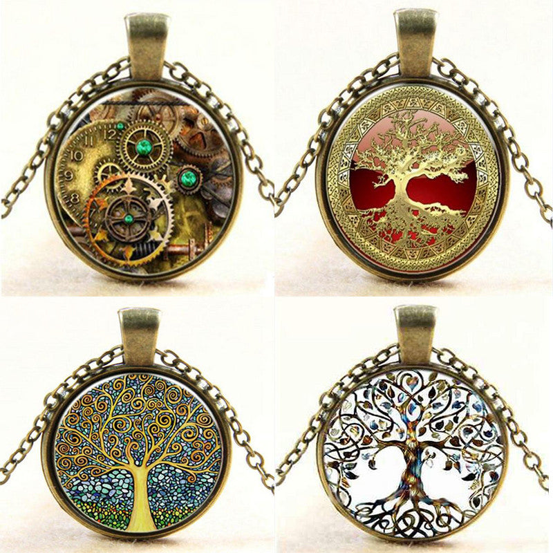 Steampunk Necklace Tree of Life