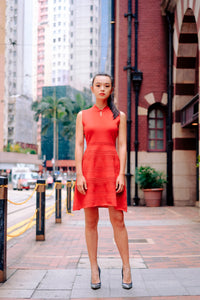 Sleeveless Knitted Mini Qipao Dress
