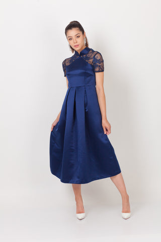 Qipology Short Sleeves Open Back Qipao Dress – Qipology – Hong Kong Tailor Made Qipao Online Store