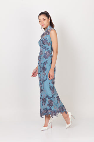 Qipology Sleeveless Lace Qipao  – Qipology – Hong Kong Tailor Made Qipao Online Store