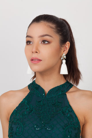 Dyan 3 Tassel Earrings – Qipology – Hong Kong Tailor Made Qipao Online Store
