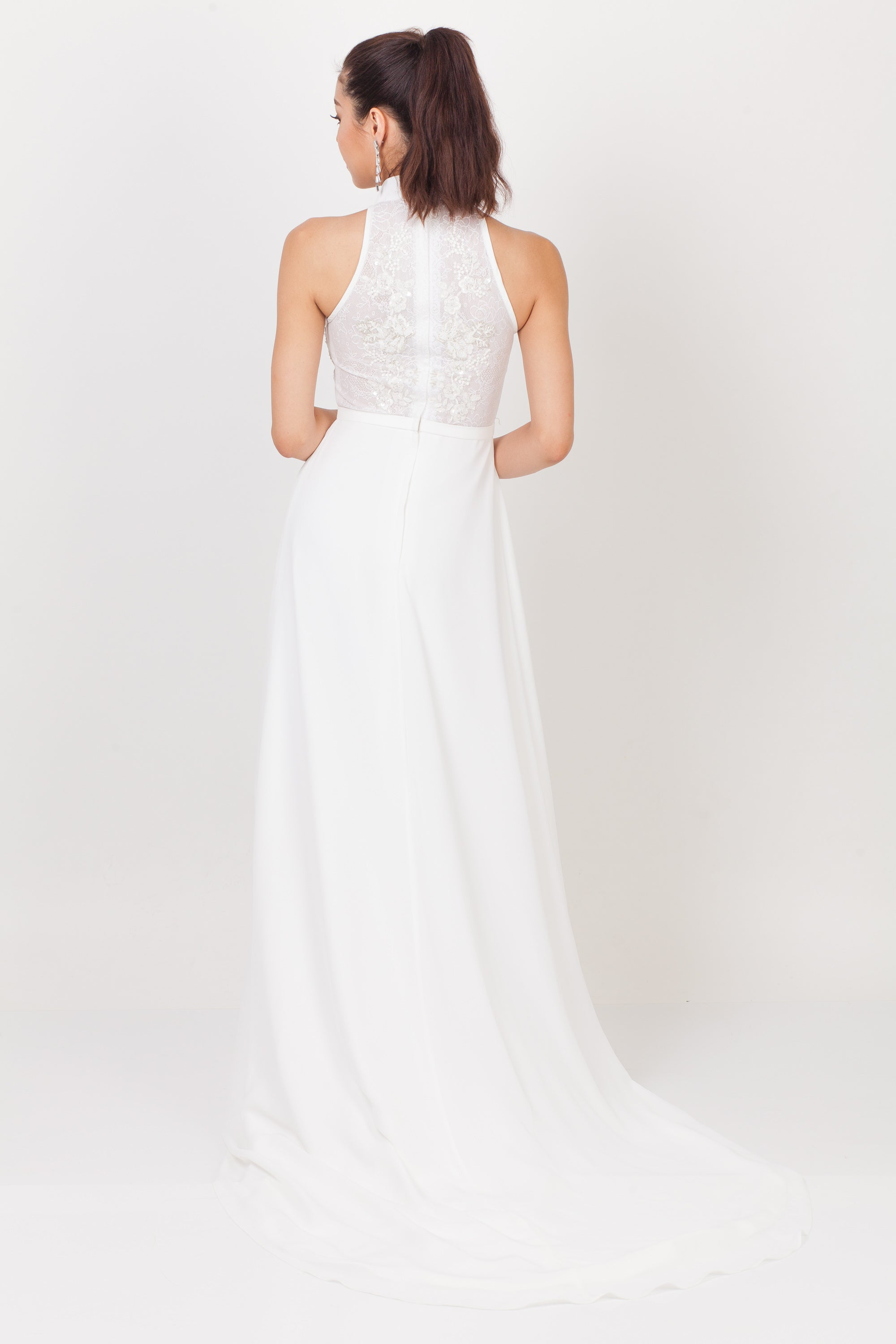 Qipology Hand Embroidered Bridal Qipao Gown