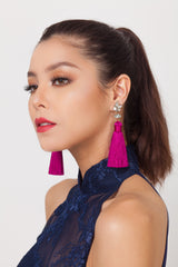 Qipology Tassel Earrings  – Qipology – Hong Kong Custom Made Modern Qipao Cheongsam