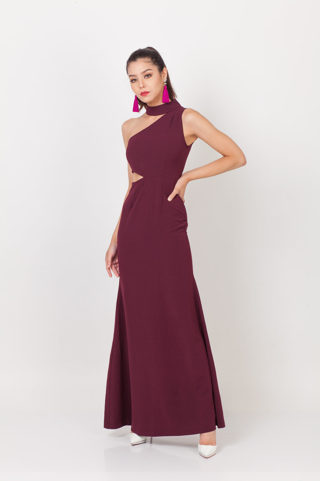 Qipology Cut Out Qipao Gown