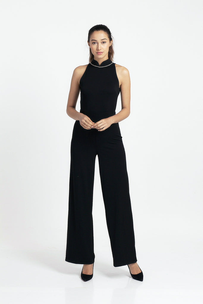 Qipology Halter Qipao Jumpsuit – Qipology – Hong Kong Tailor Made Qipao Online Store