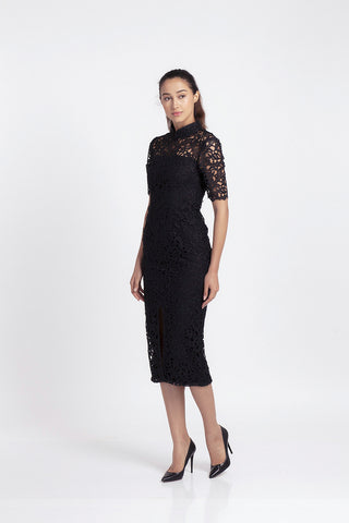 Qipology Lace Midi Qipao Dress  – Qipology – Hong Kong Tailor Made Qipao Online Store