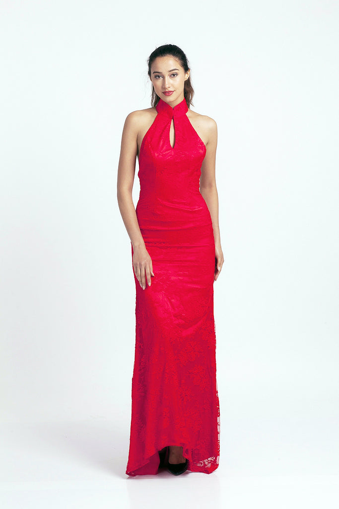 Qipology Custom Made Red Bridal Gown Mermaid  – Qipology – Hong Kong Tailor Made Qipao Online Store