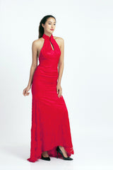 Qipology Red Bridal Qipao with Mermaid Cut  – Qipology – Hong Kong Tailor Made Qipao Online Store