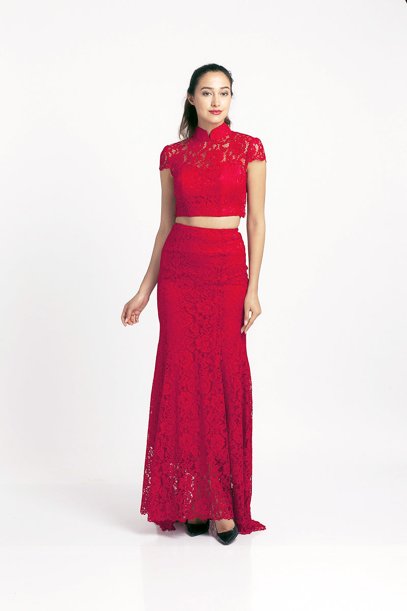 Qipology Two Piece Qipao Gown Mermaid Silhouette