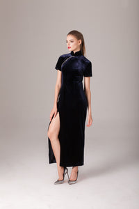 Qipology Custom Made Velvet Qipao