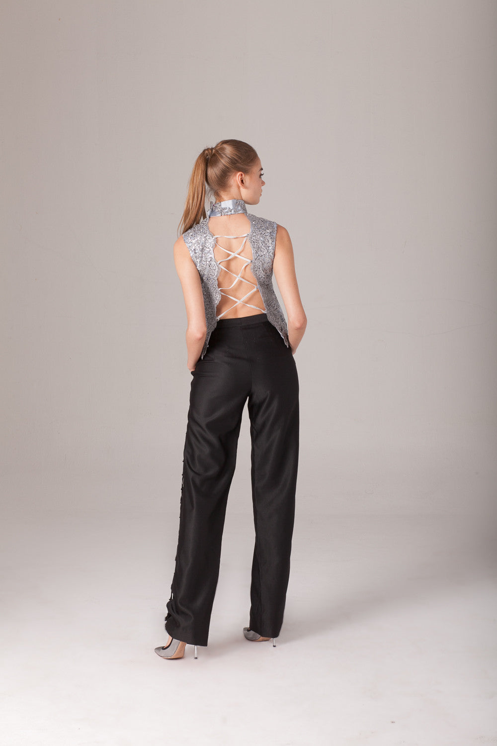 Qipology Tailored Lace Up Pants