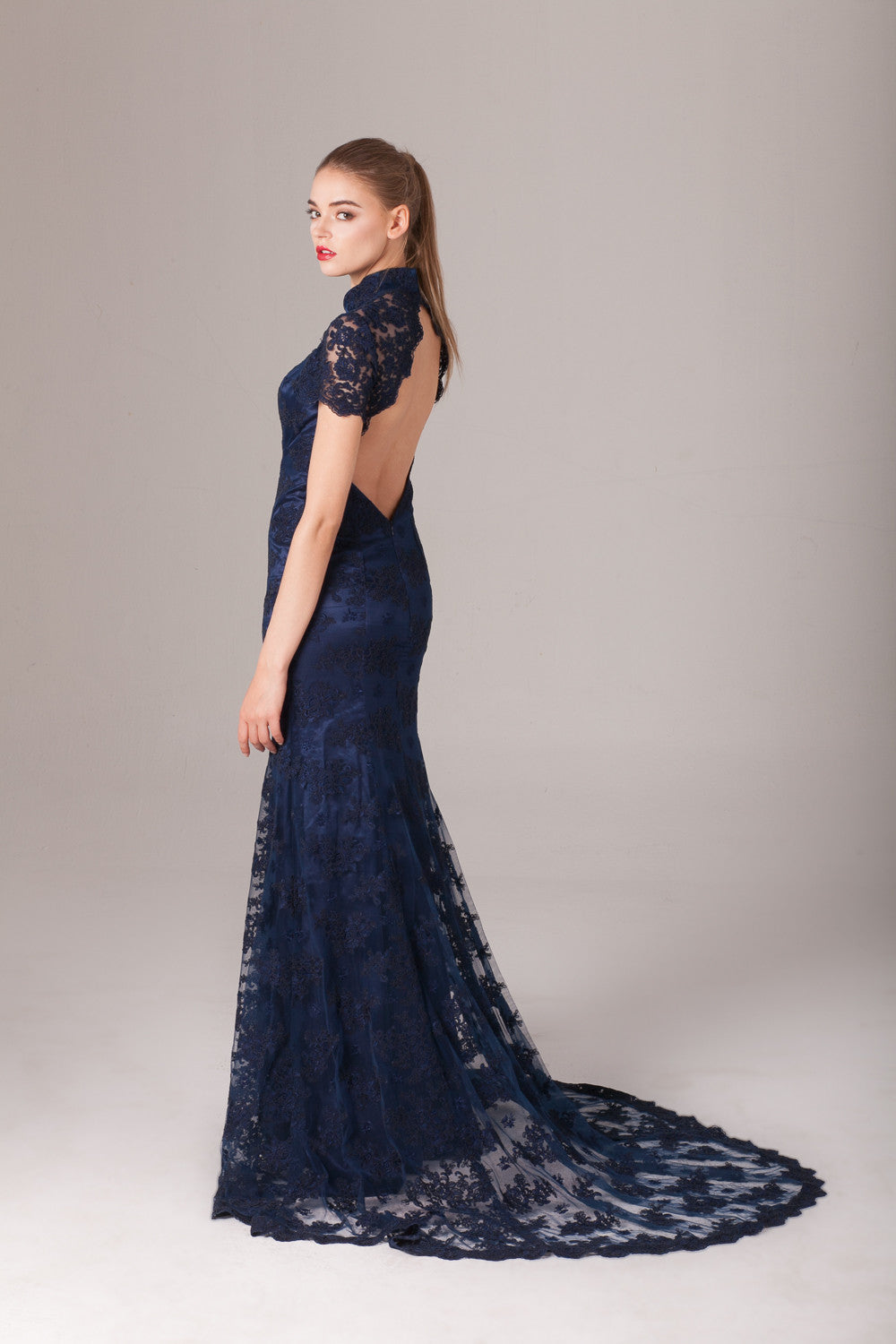 Qipology Tailor Made Backless Qipao Gown