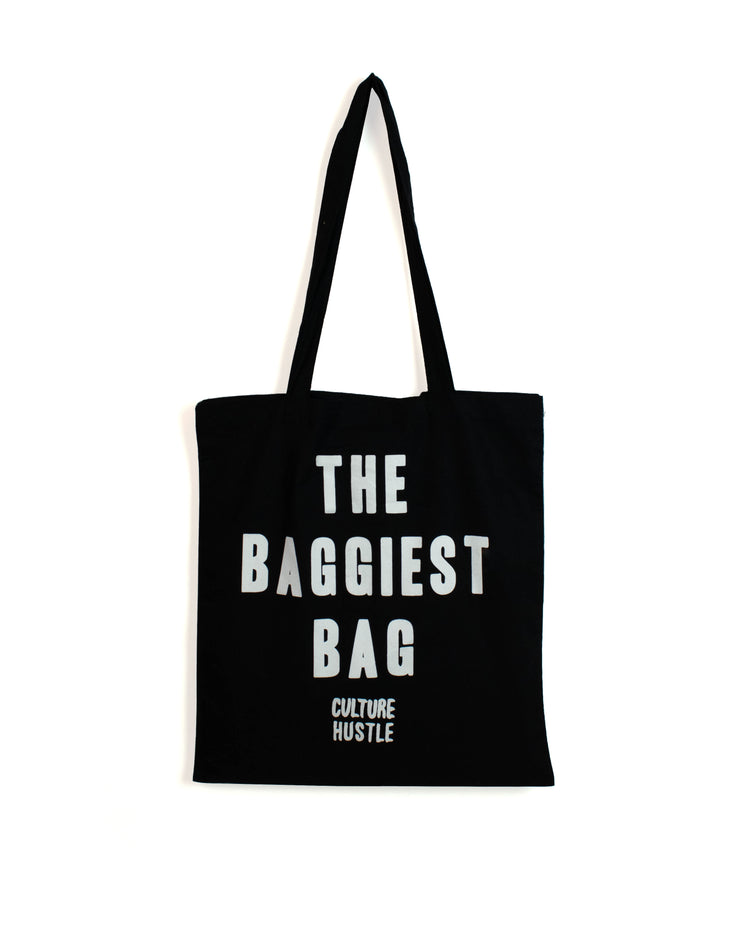 THE BAGGIEST BAG - 100% cotton screenprinted tote bag