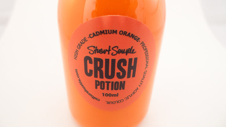 CRUSH - cadmium orange, high grade professional acrylic paint, by Stuart Semple 100ml