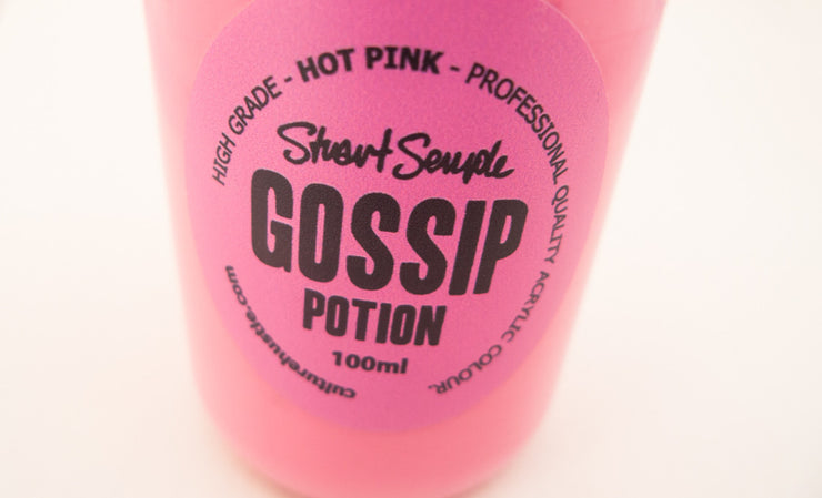 GOSSIP - hot pink, high grade professional acrylic paint, by Stuart Semple 100ml