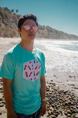 Box Pineapple Tee - Mint Green