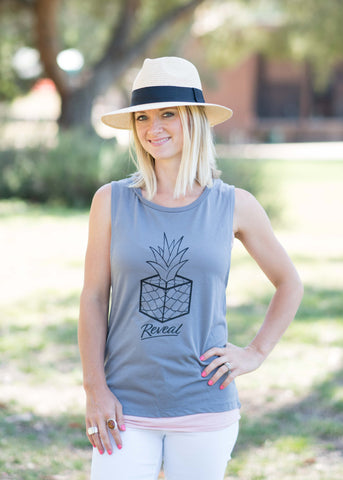 Pineapple Muscle Tank (Gray)
