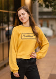 Fearless Crop Sweatshirt - Mustard