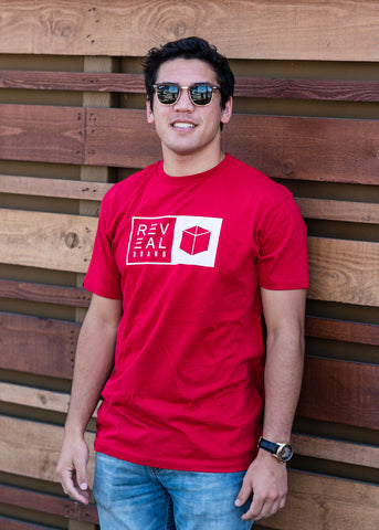 Split Box T-Shirt (Red)