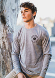 Long Sleeve Stamp tee - Gray