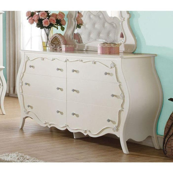 Acme Edalene 30514 Pearl White Finish Kids Dresser