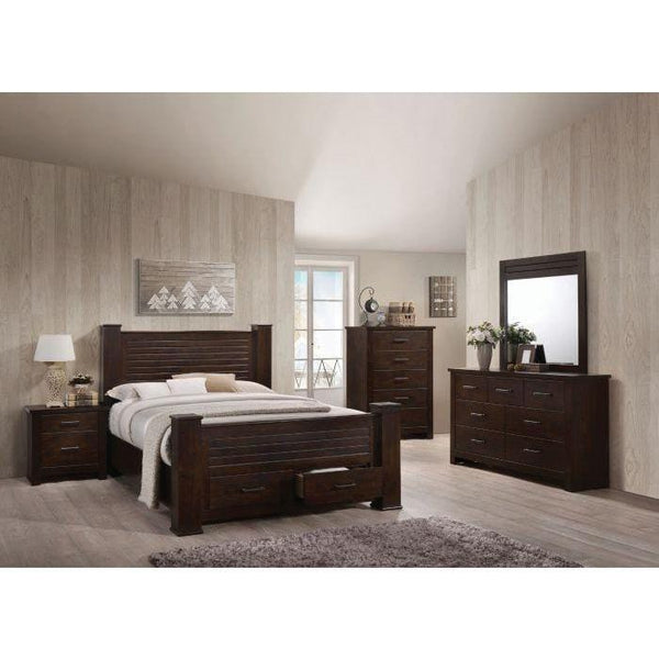 Acme Panang Mahogany Finish 5 Piece Bedroom Set