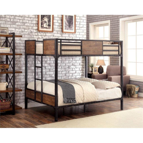 Furniture of America Jairo Contemporary Style Metal Bunk Bed