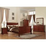 Acme Louis Philippe III Cherry Finish 2 Piece Bedroom Set