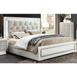 Acme Allendale Ivory and Latte High Gloss Finish 2 Piece Bedroom Set