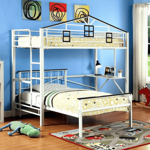 Furniture of America Javion Transitional Style Metal Two-Tone Loft Bed