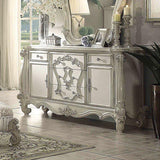 Acme Versailles Ivory Velvet and Bone White Finish 6 Piece Bedroom Set