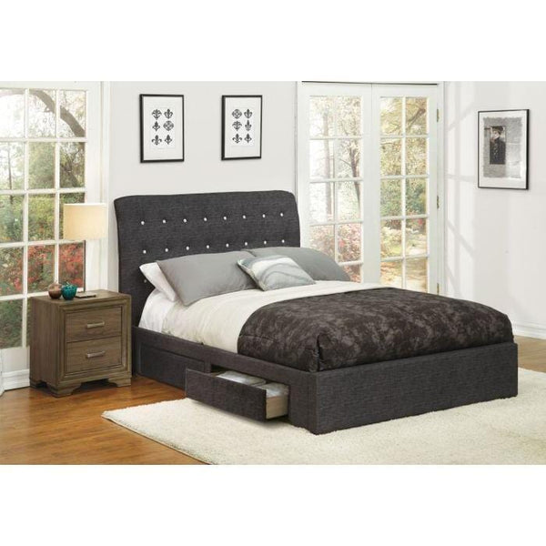 Acme Drorit Dark Gray Fabric 2 Piece Bedroom Set - Comfy Kids Bedroom
