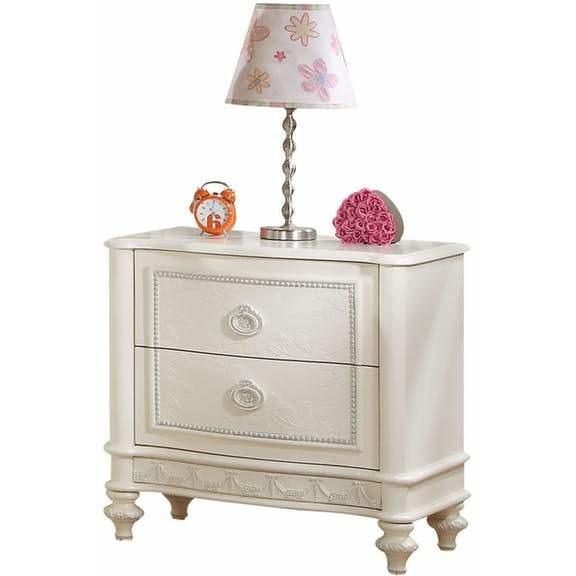 Acme Dorothy 30365 Nightstand with 2 Drawers - Comfy Kids Bedroom