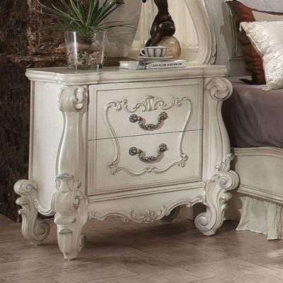 Acme Versailles 21133 Bone White Finish Nightstand - Comfy Kids Bedroom