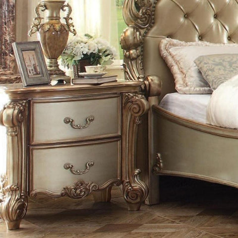 Acme Vendome 23003 Gold Patina Nightstand