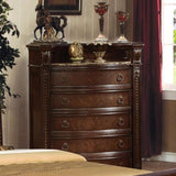 Acme Furniture Anondale Cherry Finish Marble Top 10316 Chest - Comfy Kids Bedroom