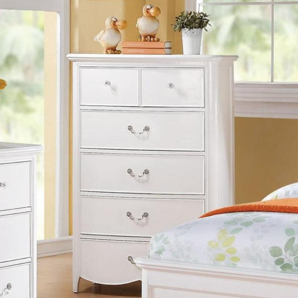 Acme Cecilie 30326 White Kids Chest - Comfy Kids Bedroom