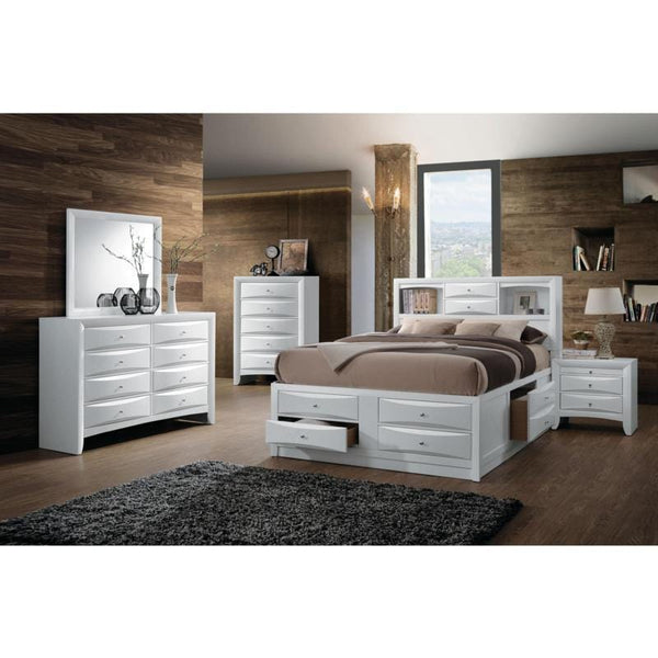 Acme Ireland 21696EK 21700Q 21710F White Storage Bed